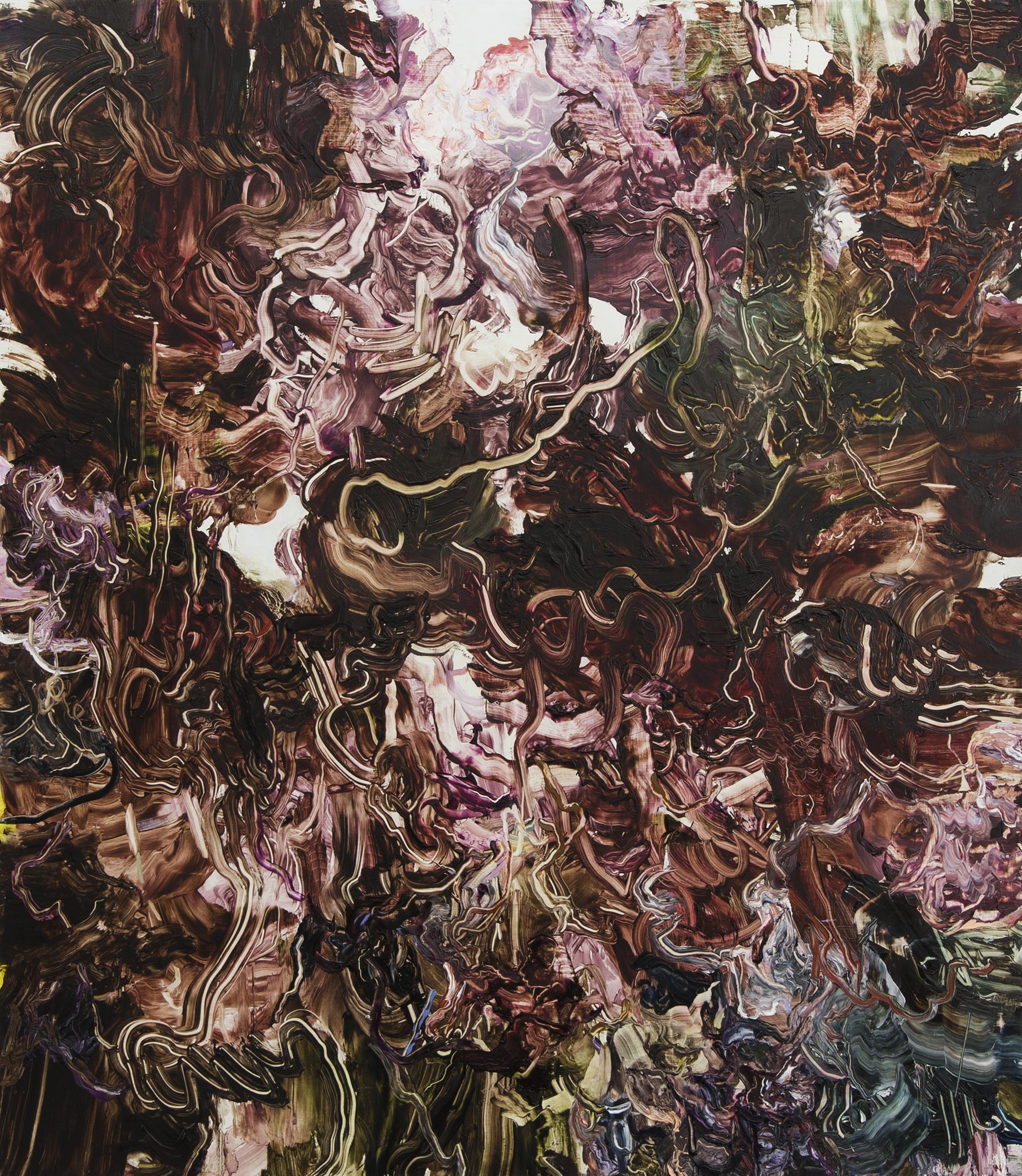 Christina Ekstrand, Meander: Mor Myr Mur, olja pa duk, 115x100 cm, 2019